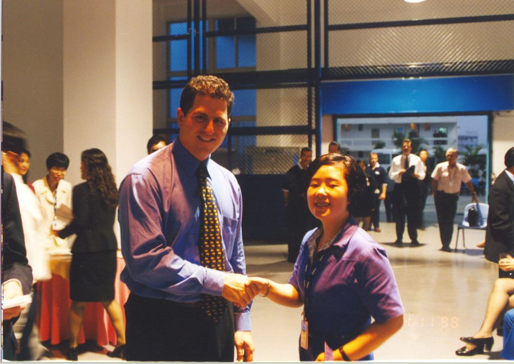 Me and Michael Dell in China, 1998